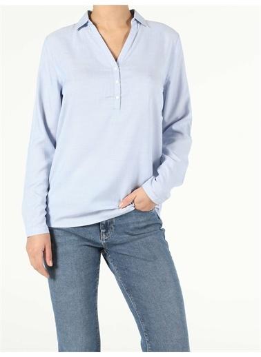 Colin's CL1047876_Q1.V1_BLE Kadın Uzun Kol Gömlek Mavi